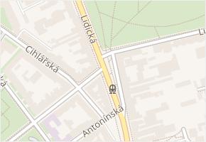 Lidická v obci Brno - mapa ulice