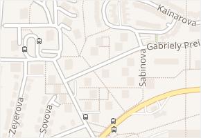 Žabovřesky v obci Brno - mapa části obce