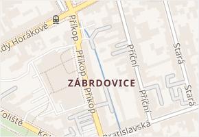 Zábrdovice v obci Brno - mapa části obce