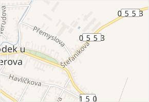 Štefanikova v obci Brodek u Přerova - mapa ulice