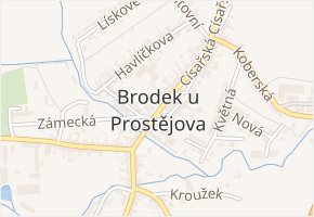 Brodek u Prostějova v obci Brodek u Prostějova - mapa části obce