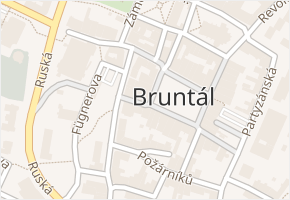 Bruntál v obci Bruntál - mapa části obce