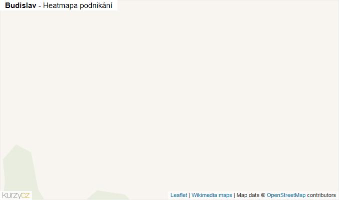 Mapa Budislav - Firmy v obci.