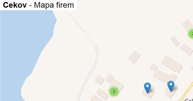 Cekov - mapa firem