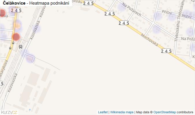 Mapa Čelákovice - Firmy v obci.
