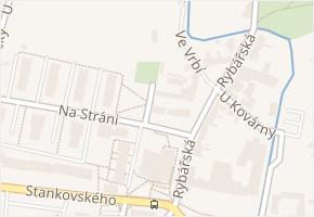 Na Stráni v obci Čelákovice - mapa ulice