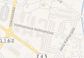 Volmanova v obci Čelákovice - mapa ulice