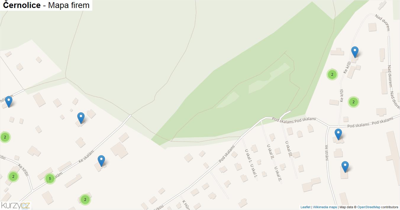 Černolice - mapa firem