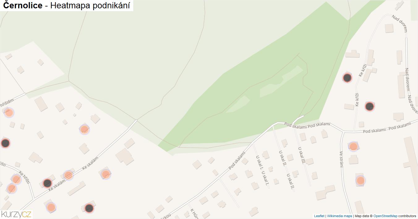 Černolice - mapa podnikání