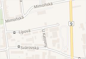 Česká v obci Česká Lípa - mapa ulice