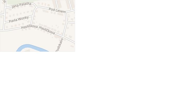 Havlíčkova v obci Česká Skalice - mapa ulice