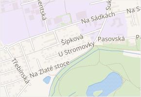 Šípková v obci České Budějovice - mapa ulice