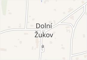 Dolní Žukov v obci Český Těšín - mapa části obce