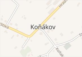 Koňákov v obci Český Těšín - mapa části obce