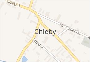 Chleby v obci Chleby - mapa části obce