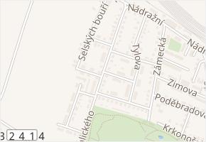 Vrchlického v obci Chlumec nad Cidlinou - mapa ulice