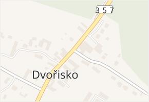 Dvořisko v obci Choceň - mapa části obce
