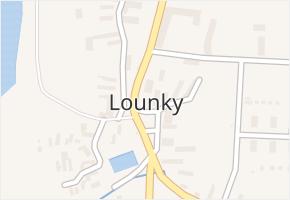 Lounky v obci Chodouny - mapa části obce