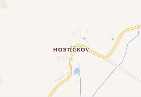 Hostíčkov v obci Chodová Planá - mapa části obce