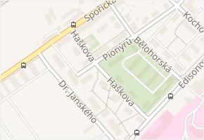 Haškova v obci Chomutov - mapa ulice