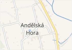 Andělská Hora v obci Chrastava - mapa části obce