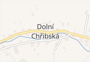 Dolní Chřibská v obci Chřibská - mapa části obce