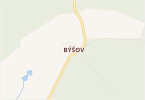 Býšov v obci Chudenice - mapa části obce