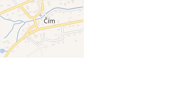 Čím v obci Čím - mapa části obce