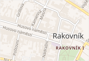 nám. Jar. Vrchlického v obci Čistá - mapa ulice