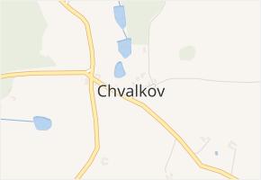 Chvalkov v obci Čížkrajice - mapa části obce
