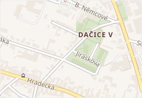 Jiráskova v obci Dačice - mapa ulice