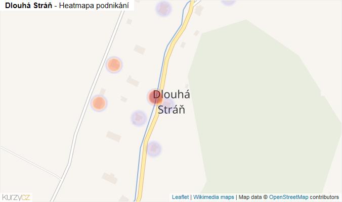 Mapa Dlouhá Stráň - Firmy v části obce.