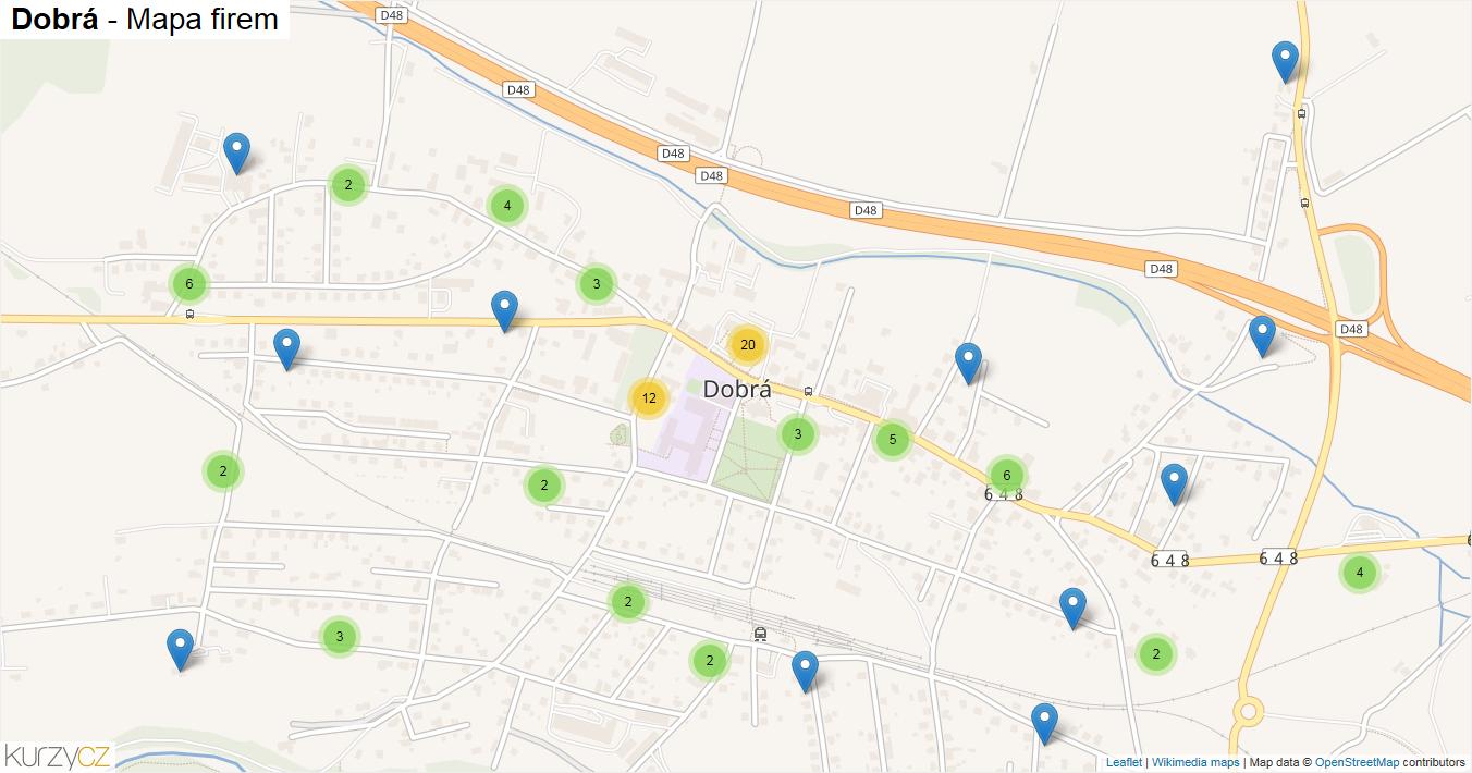 Dobrá - mapa firem