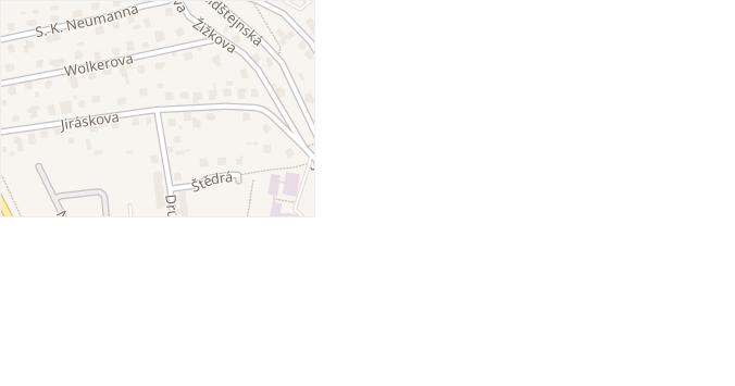 Jiráskova v obci Doksy - mapa ulice