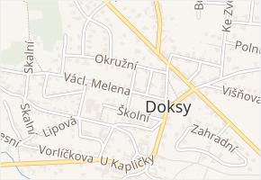 Boh. Pokorného v obci Doksy - mapa ulice