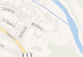 Růžová v obci Dolní Kounice - mapa ulice