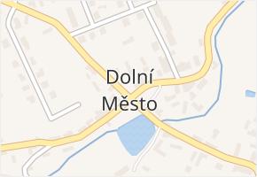 Dolní Město v obci Dolní Město - mapa části obce