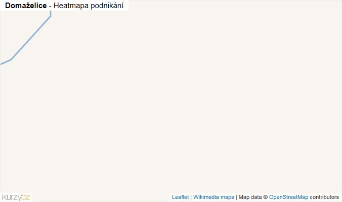 Mapa Domaželice - Firmy v obci.