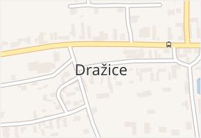 Dražice v obci Dražice - mapa části obce