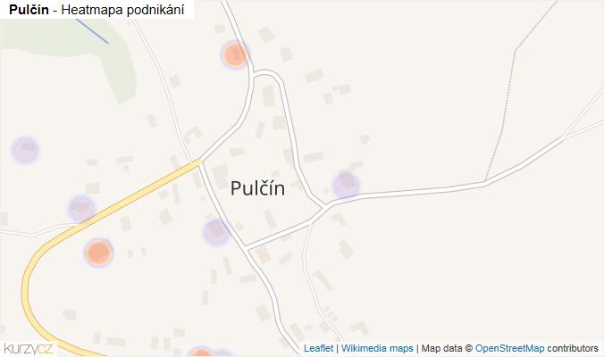 Mapa Pulčín - Firmy v části obce.