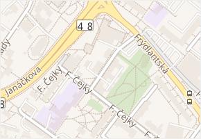 Komenského v obci Frýdek-Místek - mapa ulice