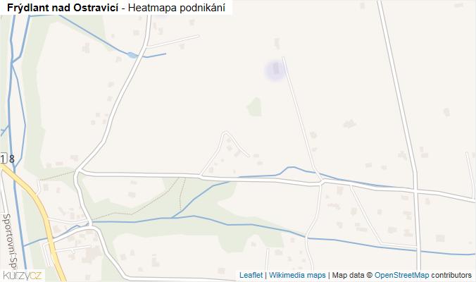 Mapa Frýdlant nad Ostravicí - Firmy v obci.
