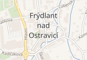 Frýdlant v obci Frýdlant nad Ostravicí - mapa části obce