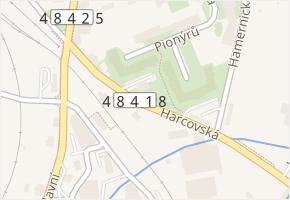 Harcovská v obci Frýdlant nad Ostravicí - mapa ulice