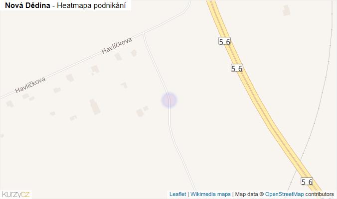 Mapa Nová Dědina - Firmy v ulici.