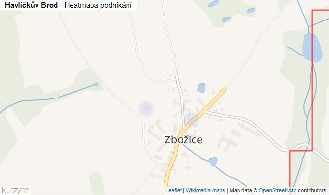 Mapa Havlíčkův Brod - Firmy v obci.