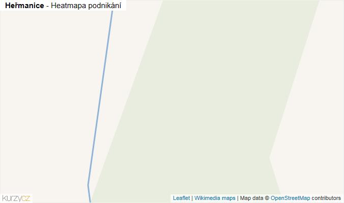 Mapa Heřmanice - Firmy v obci.