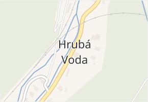 Hrubá Voda v obci Hlubočky - mapa části obce