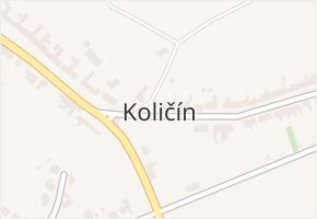 Količín v obci Holešov - mapa části obce