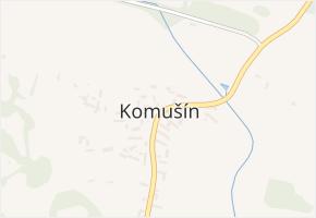 Komušín v obci Horažďovice - mapa části obce